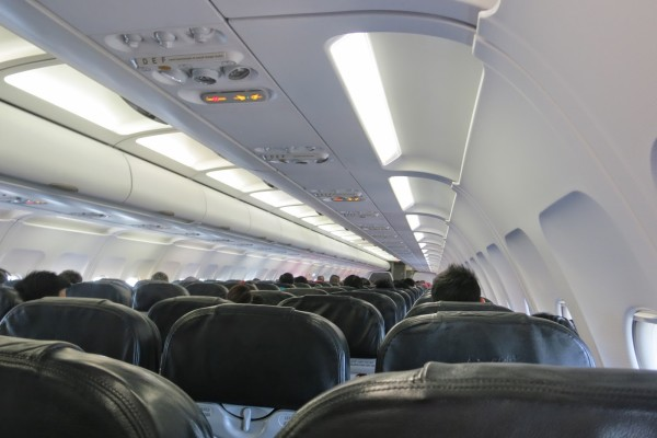 Cabin of Air Asia A320